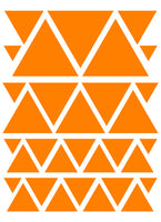 ORANGE TRIANGLE WALL DECALS