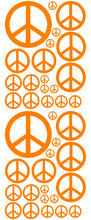 Load image into Gallery viewer, ORANGE PEACE SIGN DECAL