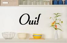 Load image into Gallery viewer, OUI FRENCH WORD WALL STICKER YES