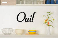 OUI FRENCH WORD WALL STICKER YES