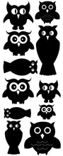 Load image into Gallery viewer, OWL WALL DECALS BLACK