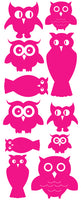 OWL WALL DECALS HOT PINK