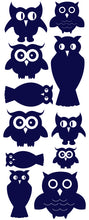 Load image into Gallery viewer, OWL WALL DECALS NAVY BLUE