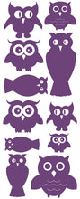 Load image into Gallery viewer, OWL WALL DECALS PURPLE