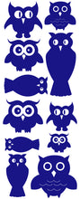 Load image into Gallery viewer, OWL WALL DECALS ROYAL BLUE