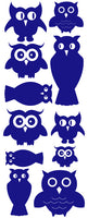 OWL WALL DECALS ROYAL BLUE