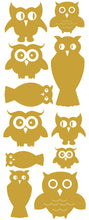 Load image into Gallery viewer, OWL WALL DECALS TAN
