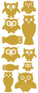 OWL WALL DECALS TAN