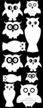 Load image into Gallery viewer, OWL WALL DECALS WHITE