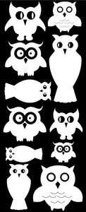 OWL WALL DECALS WHITE