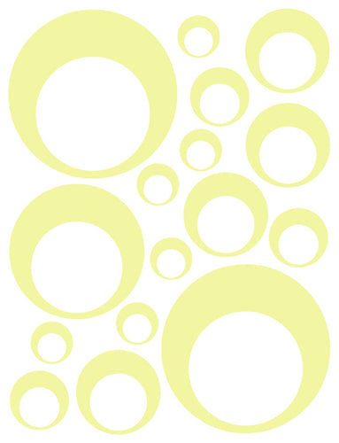 PALE YELLOW BUBBLE DECALS