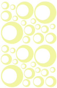 PALE YELLOW BUBBLE STICKERS