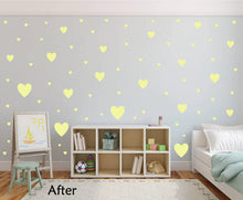 Load image into Gallery viewer, PALE YELLOW HEART STICKERS