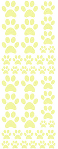 PALE YELLOW PAW PRINT DECALS