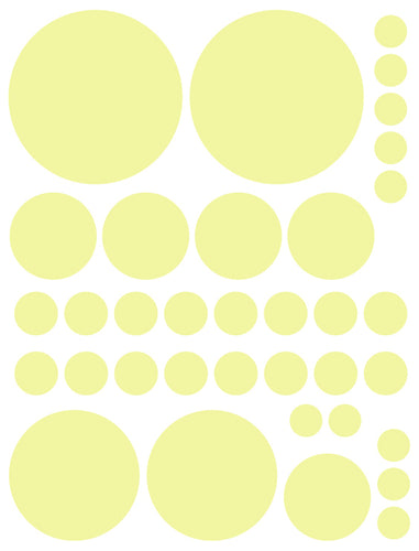 PALE YELLOW POLKA DOT WALL DECALS