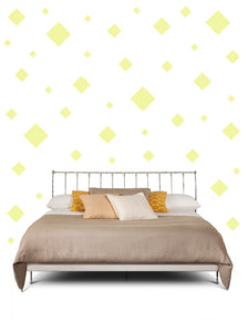 SQUARE WALL STICKERS IN PALE YELLOW