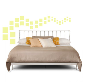 SQUARE WALL DECALS IN PALE YELLOW