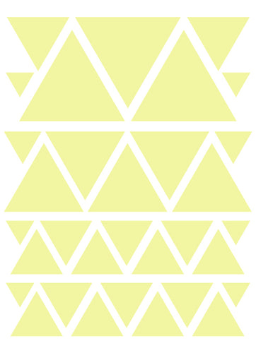 PALE YELLOW TRIANGLE WALL DECALS