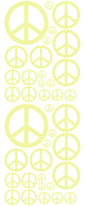 PALE YELLOW PEACE SIGN DECAL
