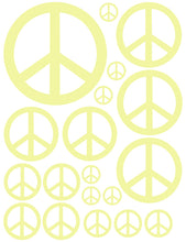 Load image into Gallery viewer, PALE YELLOW PEACE SIGN WALL DECAL