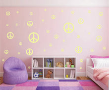 Load image into Gallery viewer, PALE YELLOW PEACE SIGN STICKER