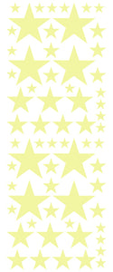 PALE YELLOW STAR DECALS