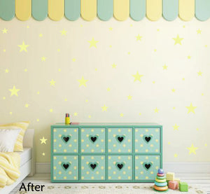PALE YELLOW STAR STICKERS