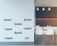 PASTA WORDS WALL STICKERS