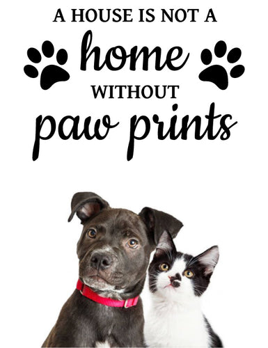 PETS PAW PRINT WALL DECAL