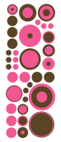 PINK AND BROWN WALL DECALS