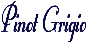 PINOT GRIGIO WALL DECAL NAVY BLUE