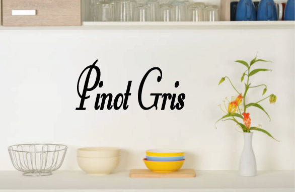 PINOT GRIS WALL DECAL
