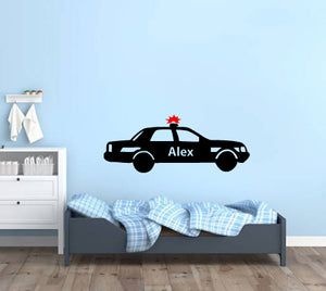 POLICE CAR WALL STICKER