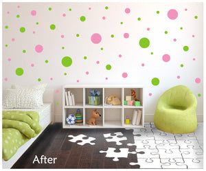 POLKA DOT WALL DECALS ON WALL