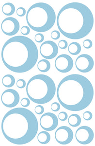 POWDER BLUE BUBBLE STICKERS