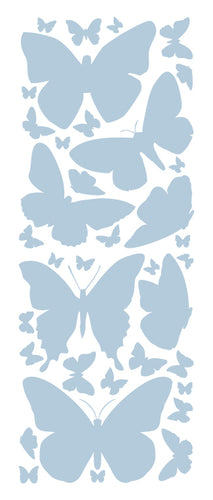 POWDER BLUE BUTTERFLY WALL DECALS