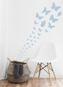 POWDER BLUE BUTTERFLY WALL STICKERS