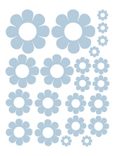 Load image into Gallery viewer, POWDER BLUE DAISY WALL DECALS