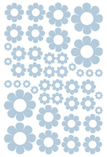 Load image into Gallery viewer, POWDER BLUE DAISY WALL STICKERS