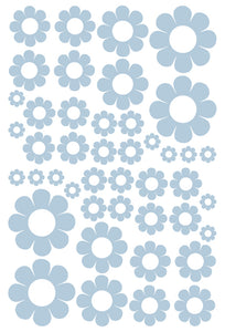 POWDER BLUE DAISY WALL STICKERS
