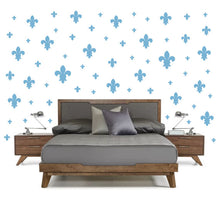 Load image into Gallery viewer, POWDER BLUE FLEUR DE LIS WALL DECOR WHIMSIDECALS.COM