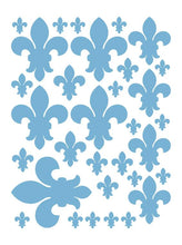 Load image into Gallery viewer, POWDER BLUE FLEUR DE LIS WALL DECALS