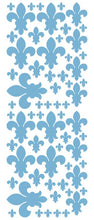 Load image into Gallery viewer, POWDER BLUE FLEUR DE LIS WALL STICKERS