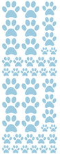 Load image into Gallery viewer, POWDER BLUE PAW PRINT DECALS