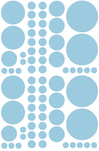 Load image into Gallery viewer, POWDER BLUE POLKA DOT DECALS