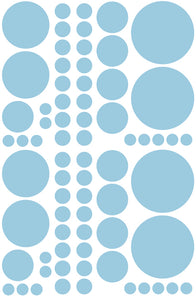 POWDER BLUE POLKA DOT DECALS