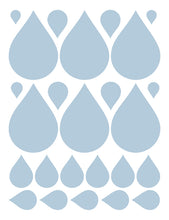 Load image into Gallery viewer, POWDER BLUE RAINDROP WALL DECALS