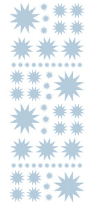 POWDER BLUE STARBURST WALL STICKERS