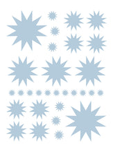 Load image into Gallery viewer, POWDER BLUE STARBURST WALL DECALS