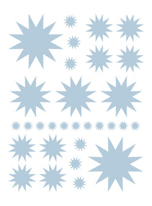 POWDER BLUE STARBURST WALL DECALS